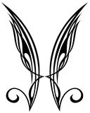 Wings. Tattoo design elements. Wing tattoo fly  graphic element fantasy Royalty Free Stock Photo