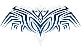 Wings in tattoo style Royalty Free Stock Images