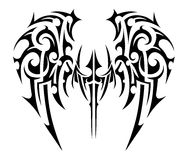Wings tattoo tribal art. Wings tattoo in tribal art style. Angel wings Stock Photography