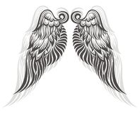 Wings tattoo Stock Photography