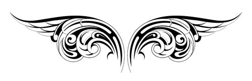 Wings tattoo Royalty Free Stock Images