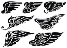 Wings tattoo Stock Image