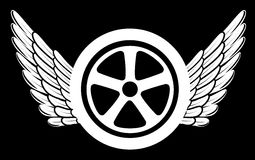 Wings and tire Royalty Free Stock Images