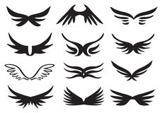 Wings Vector Icon Set Royalty Free Stock Photos