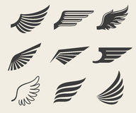 Wings vector icons set Stock Images