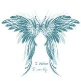 Wings vector illustration. vector illustration