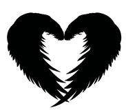 Wings. Vector illustration on white background. Black and white Stock Photo