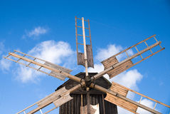 The wings of a windmill against the sky Royalty Free Stock Photos