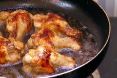 Wingstick жареной курицы в масле Стоковое Изображение