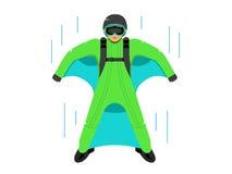 Wingsuit B A S e muestra del puente Plantilla del diseño de Corporate Logo de la identidad de marcado en caliente aislada en un f Imagen de archivo