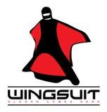 Wingsuit-Nähe-Logo Stockbild