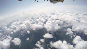 Wingsuit que salta em queda livre de 12000 pés vídeos de arquivo