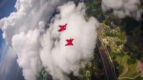 Wingsuit som flyger över Palau royaltyfri foto