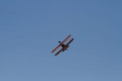 Wingwalkers auf Doppeldecker Stockfotos