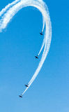 Wingwalkers auf Doppeldecker Lizenzfreie Stockbilder