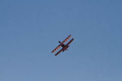 Wingwalkers on biplane Stock Photos