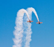 Wingwalkers on biplane Stock Photography