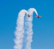 Wingwalkers na biplanie Zdjęcie Stock