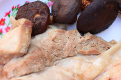 Świnia i pieczarki obraz stock