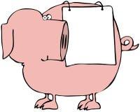 świnia znak royalty ilustracja