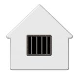 Więźniarski dom Zdjęcia Stock