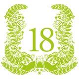 Winieta dla 18th urodziny i rocznicy Zdjęcia Royalty Free