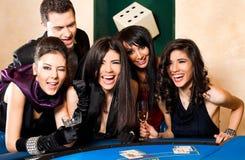 Wining black jack happy group Stock Images
