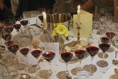 Wining dining Stock Image