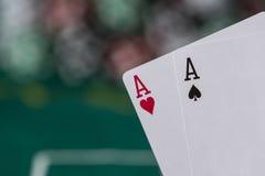 Wining Poker hand Stock Image