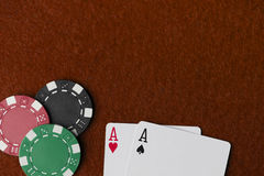 Wining Poker hand Stock Photos