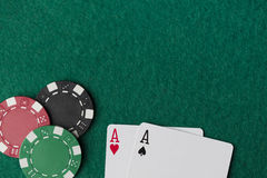 Wining Poker hand Royalty Free Stock Photography