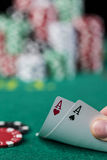 Wining Poker hand Royalty Free Stock Photo