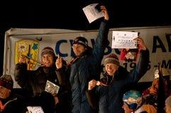 Wining team-Men's Speed Royalty Free Stock Photo