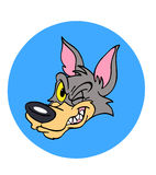Wink волка Бесплатная Иллюстрация