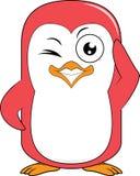 Wink талисмана пингвина Стоковое Изображение