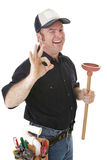 Wink And A Plunger Stock Images
