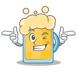 Wink beer character cartoon style Stock Image