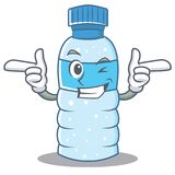 Wink bottle character cartoon style Stock Photography
