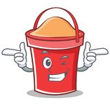 Wink bucket character cartoon style Stock Photography