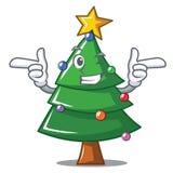 Wink Christmas tree character cartoon. Vector illustration Royalty Free Stock Photo