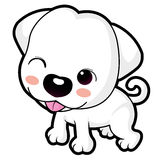A wink cute puppy mascot. Animal Character Design Series. Stock Image