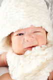 Wink Easter baby boy Stock Photo