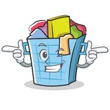 Wink laundry basket character cartoon Royalty Free Stock Photography