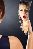 Wink in the mirror Royalty Free Stock Photography