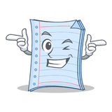 Wink notebook character cartoon style Royalty Free Stock Photography
