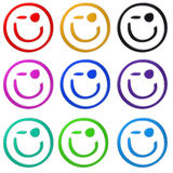 Wink smiley Stock Images