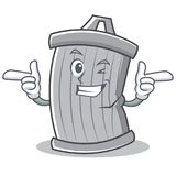 Wink trash character cartoon style. Vector illsutration Stock Photography