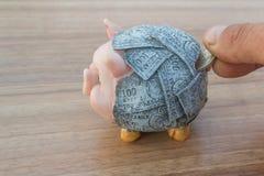 4 świnka bankowych Fotografia Royalty Free