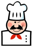 Winked Chef Man Face Stock Images