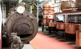 Winkel de oude fabriek voor de productie van alcohol royalty-vrije stock afbeelding